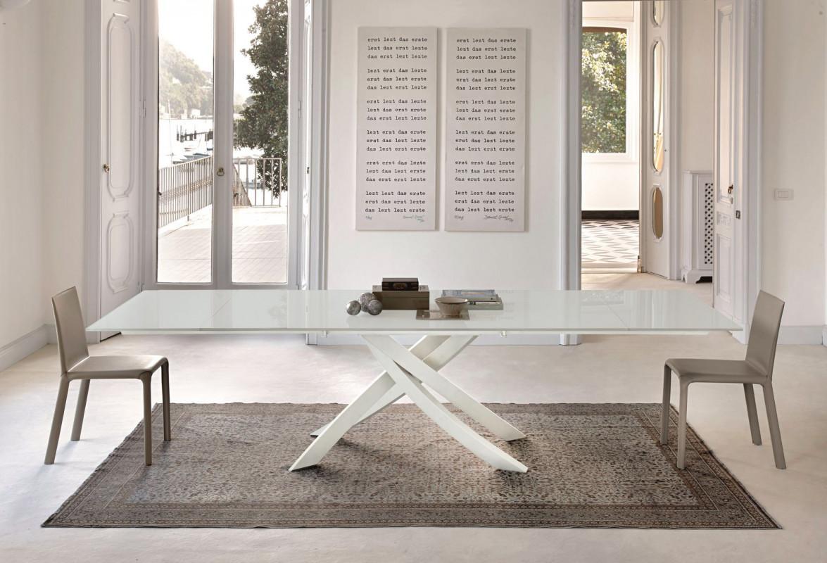 Artistico bontempi scorcucchi interni cortona for Glass tavoli cristallo